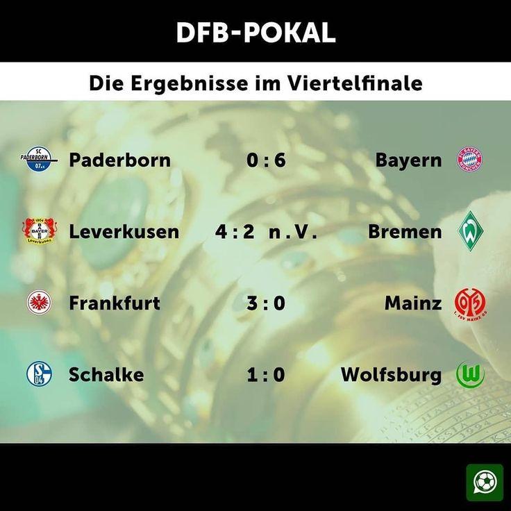 Die Halbfinal-Auslosung findet am kommenden Sonntag ab 18 Uhr statt (live in der ARD)! 🏆 #dfbpokal #halbfinale #auslosung #fcbayern #bayerleverkusen #eintrachtfrankfurt #Schalke