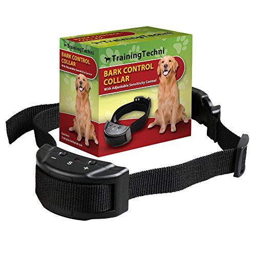 Dog No Bark Collar for Bark Control with 7 Levels Adjustable Sensitivity Control, Electric Anti Bark Shock Collar for 15-120 lb. Large and Medium Dogs