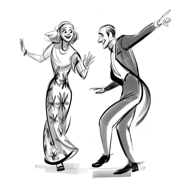 """They All Laughed"" from 'Shall We Dance', 1937 / by ncdoodles (formerly scribbledigooks)"