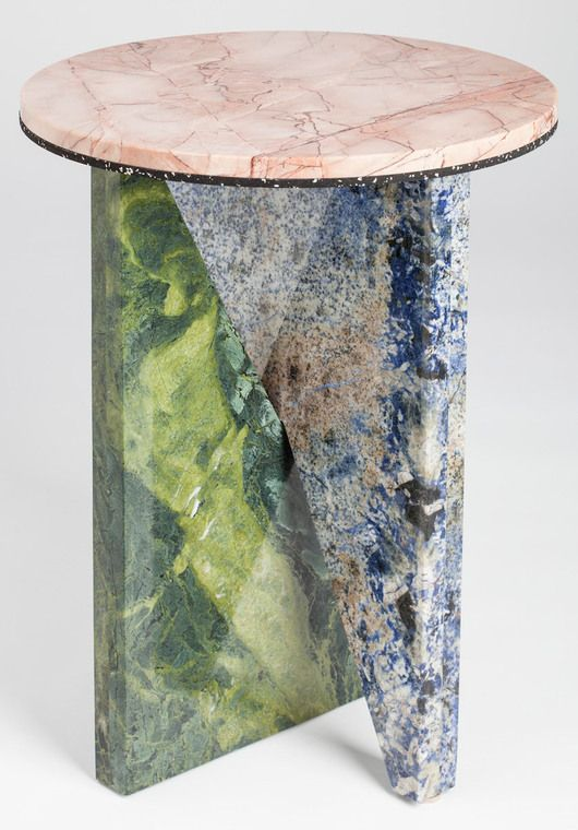 AFFORDANCES #1 (You Only Reincarnate Infinitely) are an open edition of side-tables based on essential forms and simplified construction. Each is a combination of three pieces of marble or granite (and the occasional piece of synthetic stone), are flat pack and require no fixtures to assemble.
