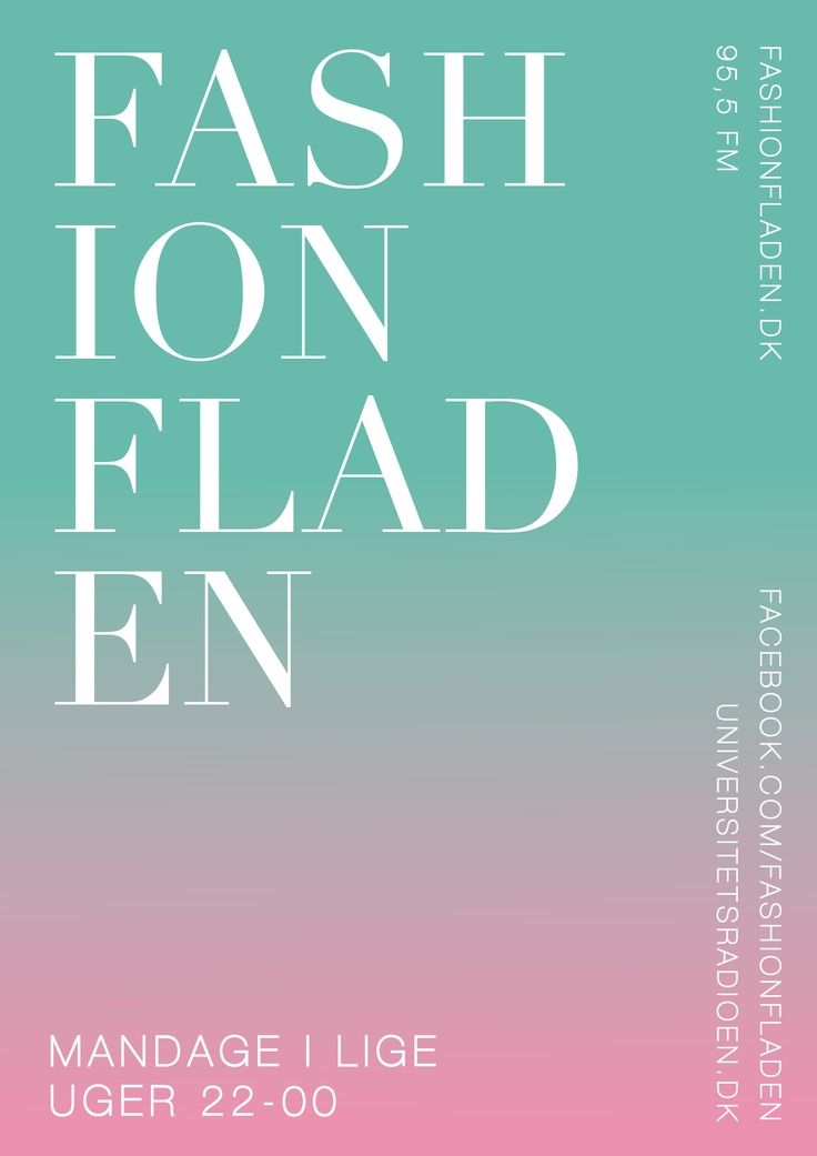Fashion Fladen radioshow poster by Christoffer Juul