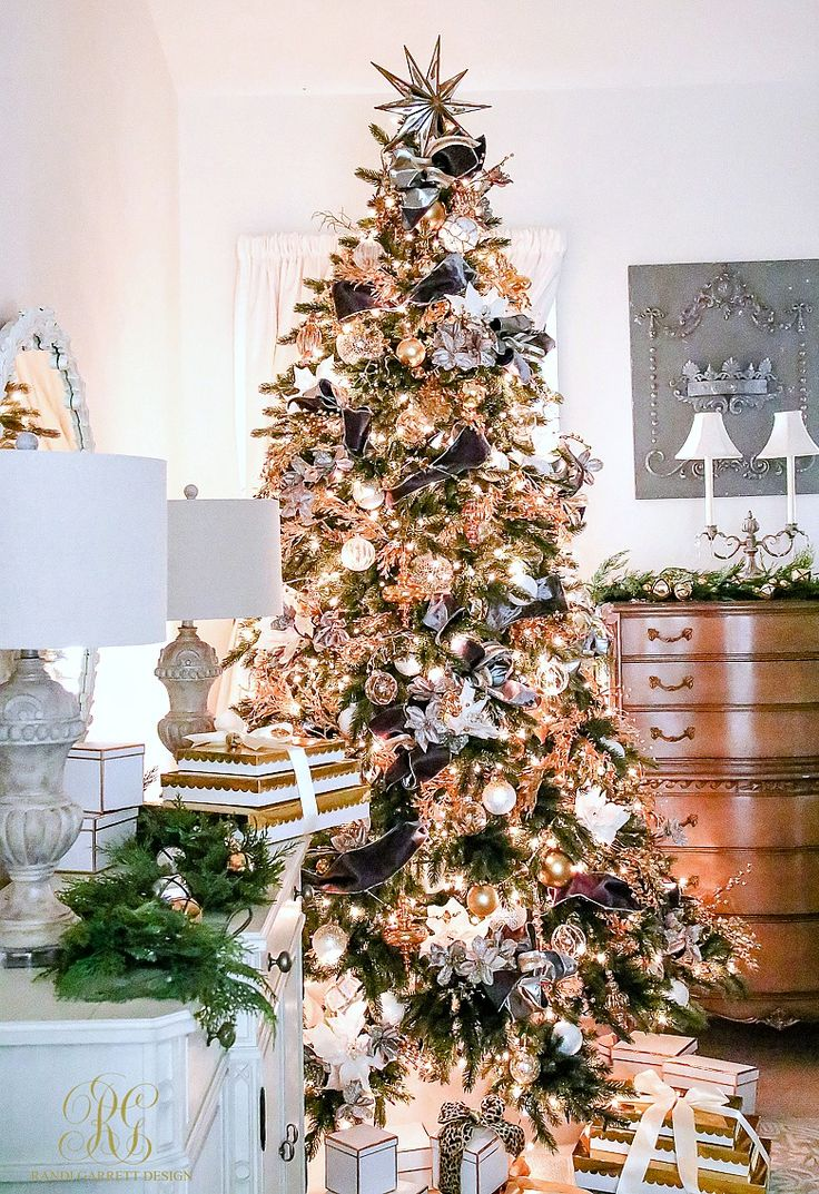 Parade of Christmas Trees 2016 - Featuring Balsam Hill - 2 Vermont white  spruce christmas trees styled 2 ways, elegant silver and white, gray and  gold