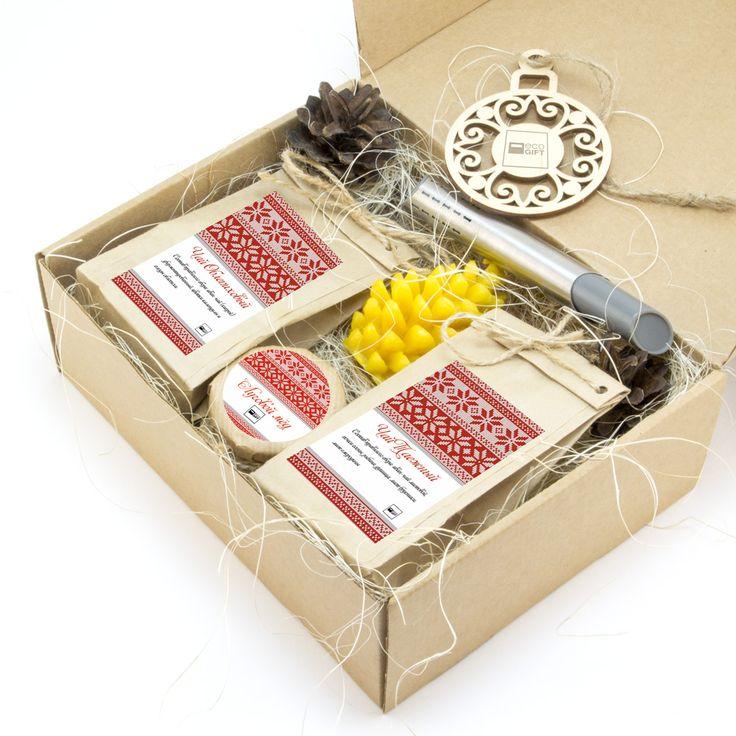 Новогодний чайный набор «Craft VIP» te501 - корпоративный подарок с кучей сувениров с Вашим логотипом