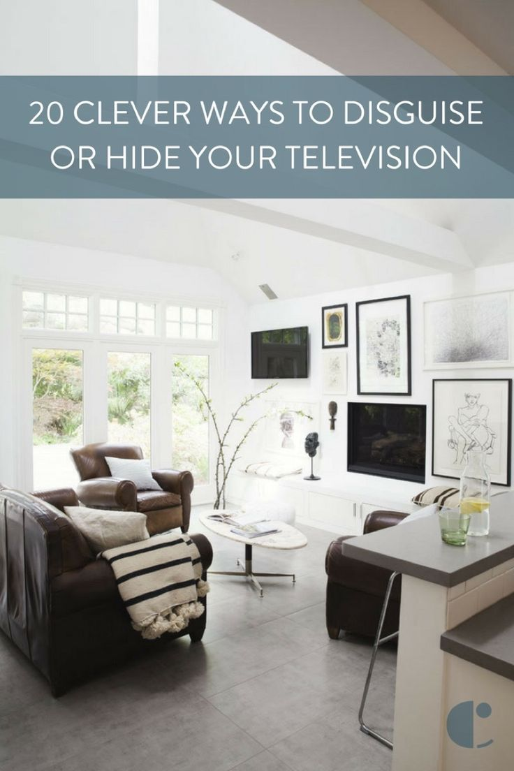 20 ways to elegantly decorate around and disguise your tv
