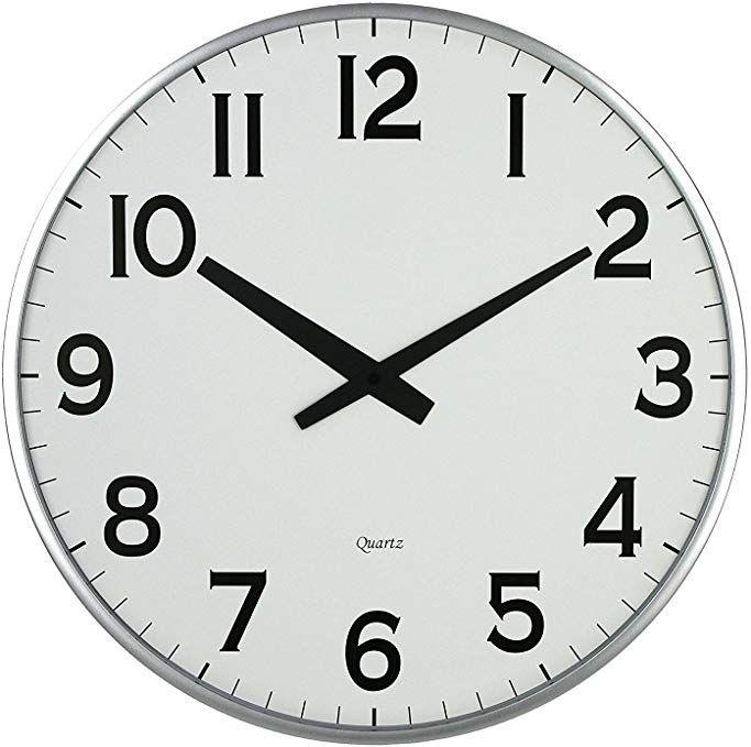 Lulu Decor 18slim Large Wall Clock Round Modern Sleek Design Only 0 75thick Large Wall Clock Battery Operated Black Wall Clock Large Wall Clock Wall Clock