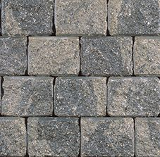 Ortana Plus Greyfield Wall by Oaks Landscape Products. Ortana Plus can be easily converted for designs that feature double-sided walls, seat walls and driveway borders. This durable product offers limitless applications as timeless as they are appealing.