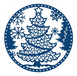 Tattered Lace Dies - Christmas Tree Snowglobe | Crafting.co.uk