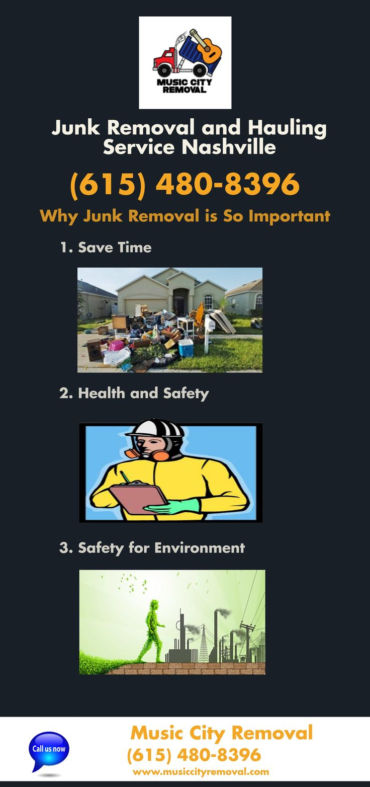 Nashville Junk Removal and Hauling is great services provided in the city.Get To Know - Why Important Junk Removal and Hauling Service. Call Us at 615-480-8396.