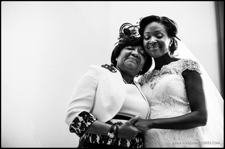 Julia and her Mum right after signing the wedding register -