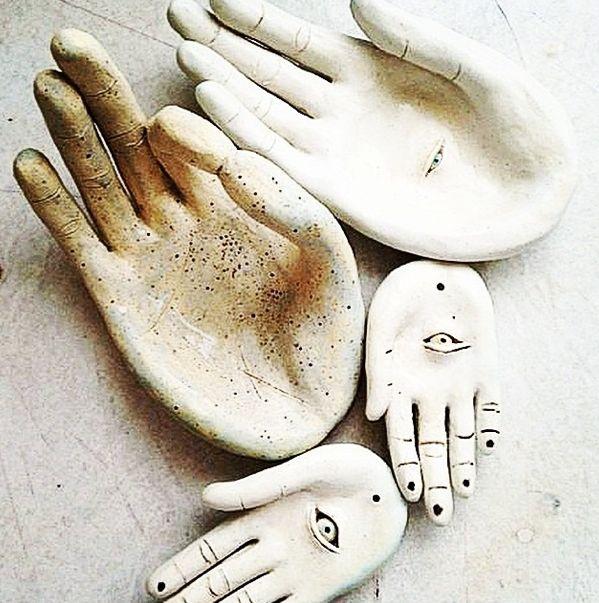 POTTERY for soap dishes or ring bowls, for keys, etc!!!! tankturner hands.