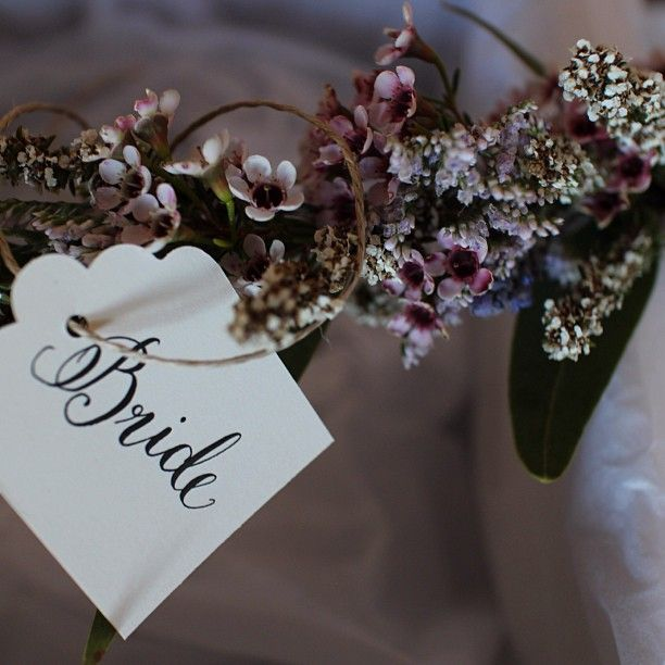 Floralovely Calligraphy tags for Wild At Heart Flowers