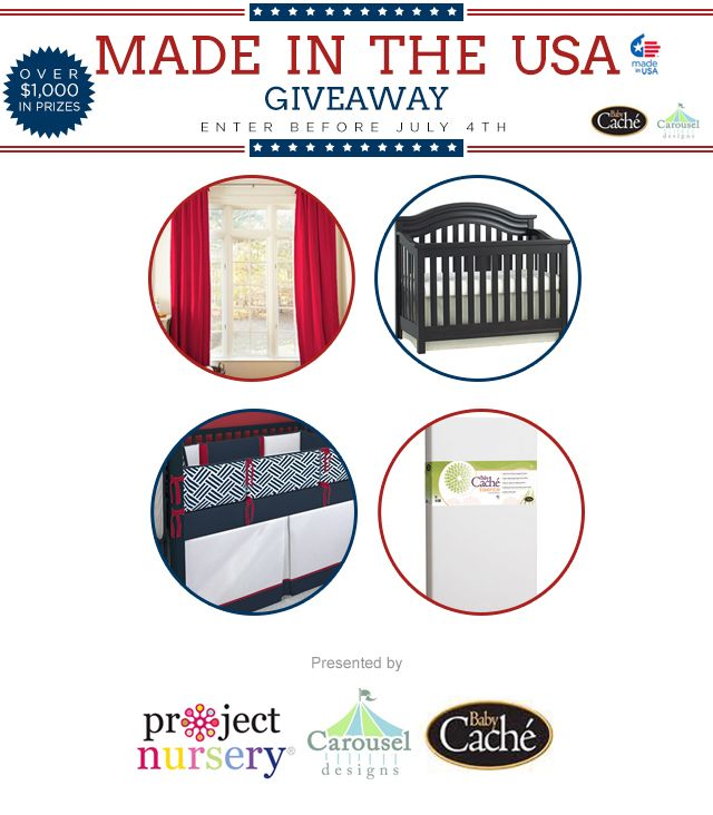Enter to win our Made in the USA Giveaway featuring @carouseldesigns  + @munirefurniture! #Win $1100+ baby gear. #giveawayDecor Ideas, Design Seminar, Certificate To Carousels, Features Carouseldesign, Baby Gears, Baby Room, Features Carousels, To Carousels Design, Usa Giveaways