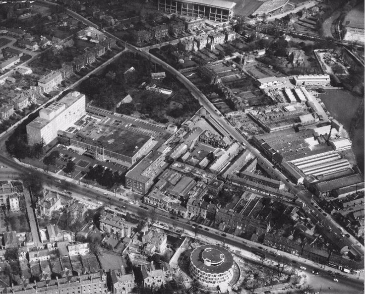 Aerial Shelbourne Road, Ballsbridge 1965