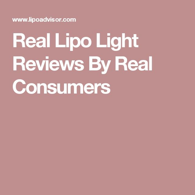 Real Lipo Light Reviews By Real Consumers