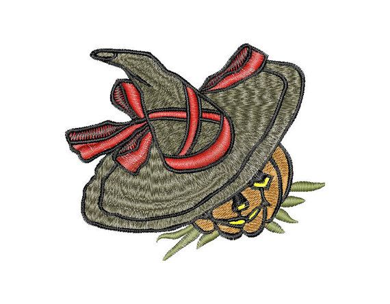 Halloween Embroidery Design Pumpkin Instant Download
