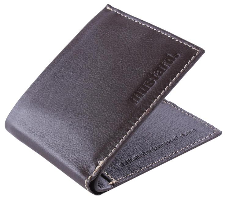 Mustard Wallet - Brown Karn Leather Wallet #Mustard #Mens #Wallet