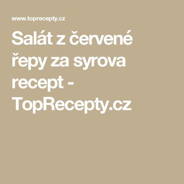 Salát z červené řepy za syrova recept - TopRecepty.cz