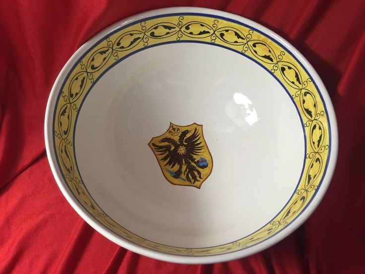 Handpainted Punch Bowl Made On Italy For MEDITERRANEAN SHOW