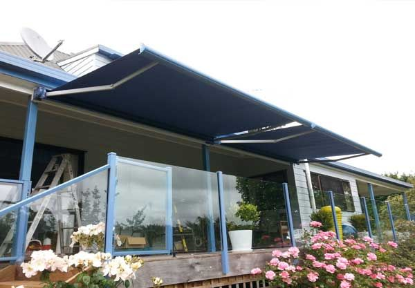 Cassette Retractable Awning Over Deck