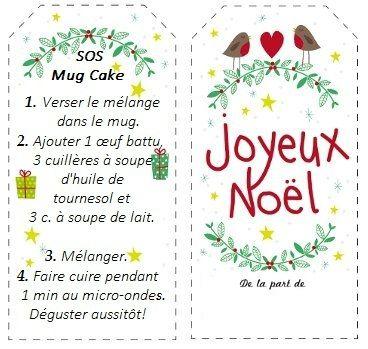 étiquettes SOS Mug cake