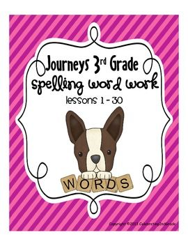 Third Grade 3rd Grade Journeys 2010 Spelling Word Work Act