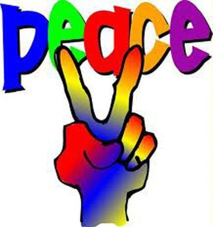Love and peace people lets stop the wars dont just sit there do something get a bumper sticker for your car or give the peace sign