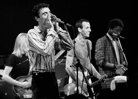 .Talking Heads with extended members at the Agora Ballroom in Atlanta on November 18, 1980. Photos by Rick Diamond. Adrian Belew made this tour special