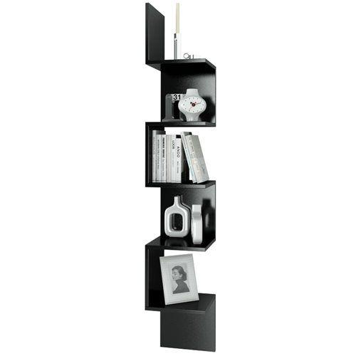 Bestline Corner Kitaplık Ve Raf - Siyah