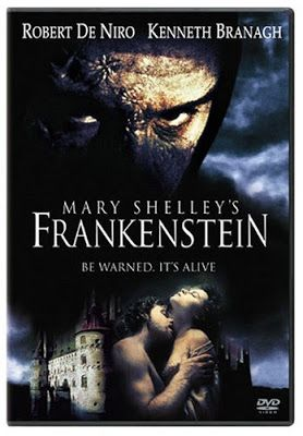 frankenstein de  mary shelley producida en 1994 y dirigida por Kenneth Branagh.