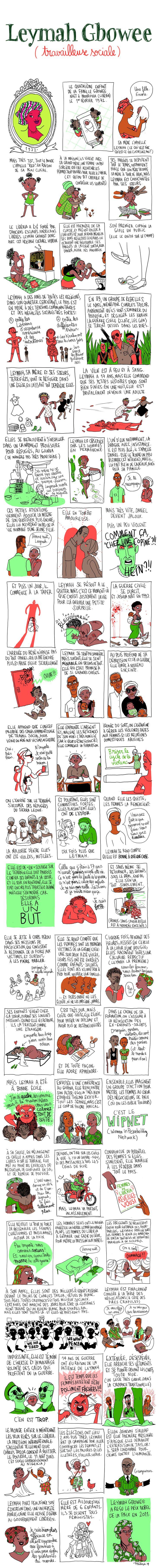 Leymah Gbowee, travailleuse sociale Les Culottées, Pénélope Bagieu
