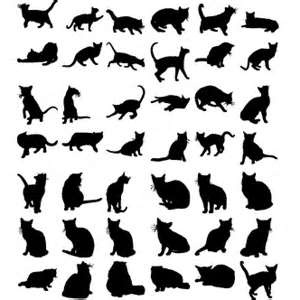 Vector Gratis De Siluetas Gatos Tattoos Pinterest Gatos
