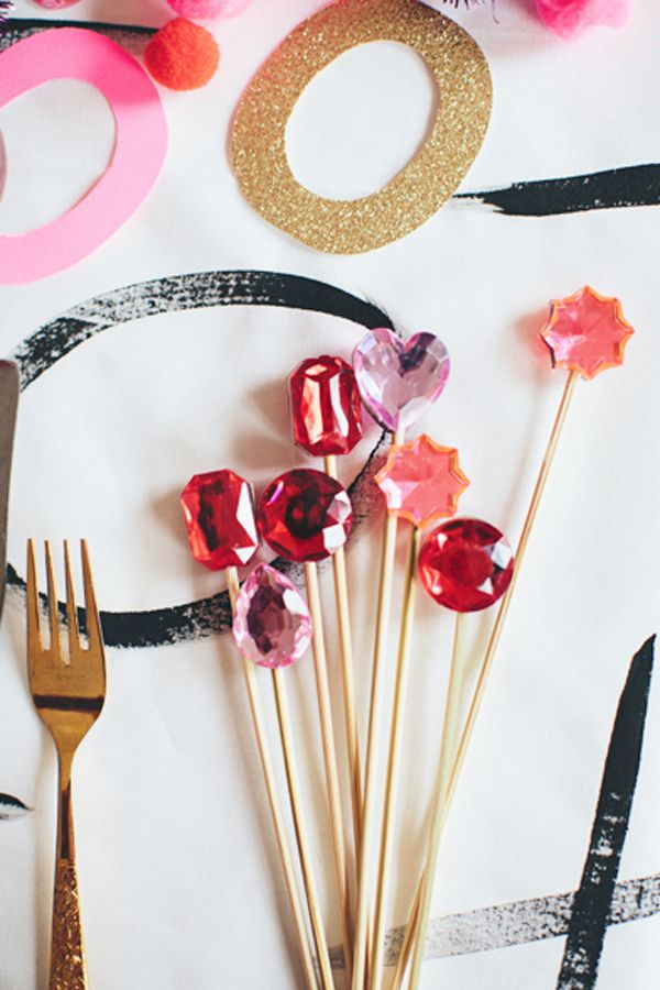 gemstone stirrers/food picks...