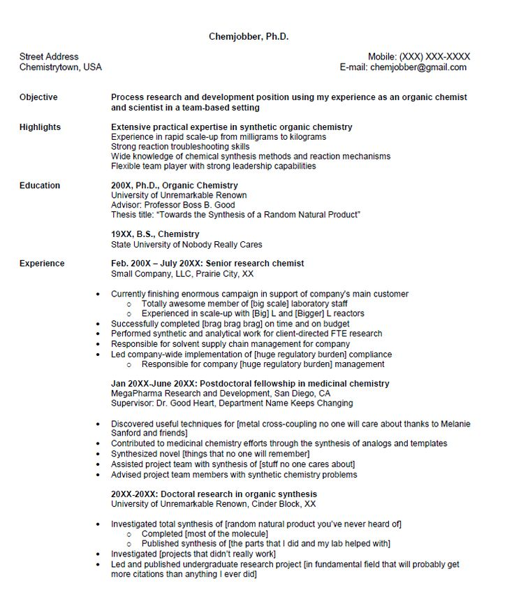 Senior Chemist Resume Sample - http\/\/resumesdesign\/senior - analytical chemist resume