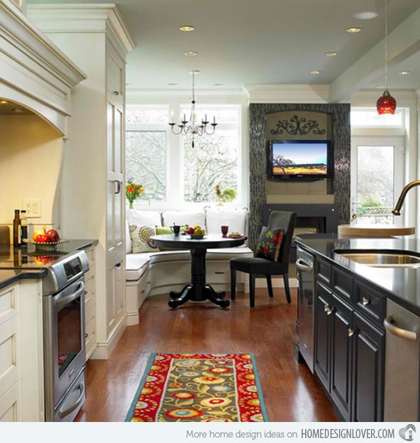 Painted Family Kitchen With Dining Nook: 1000+ Ideas About Corner Kitchen Tables On Pinterest