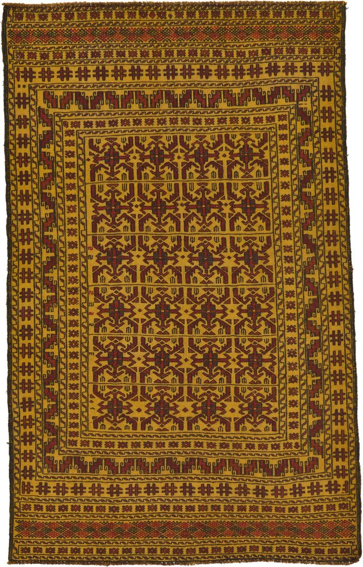Gold 4 X 6 Kilim Afghan Rug Area Rugs Irugs Uk