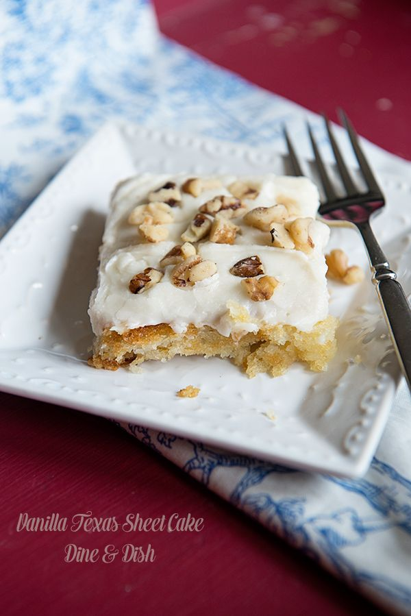 Vanilla Texas Sheet Cake is a twist on a classic church potluck recipe, topped with a creamy vanilla frosting and chopped Diamond walnuts. I don't want to be disrespectful, but the desserts that the church ladies provide for funerals are the best! There is nothing like a table full of a variety of desserts, all...