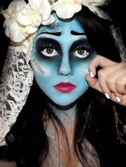 Maquillaje de Halloween 2014: diseño esposa cadáver