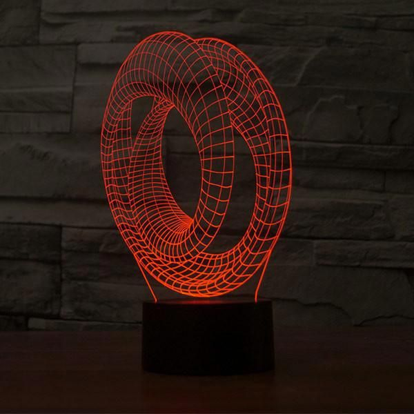 Just A Energy Efficient 2d Led Lamp But Looks Like A 3d Bulb Tricking Your Eyes And Making Your Place Look Plain Cool A Lamp 3d Illusion Lamp Visual Illusion