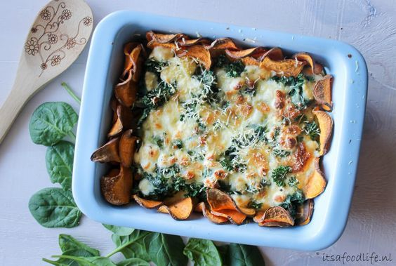 Zoete aardappel quiche met spinazie en geitenkaas | It's a Food Life