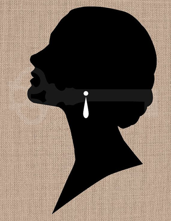 Elegant Woman Silhouette Graphic Image No.217 by TanglesGraphics