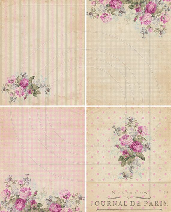 INSTANT DOWNLOAD diGiTal CollAge SheEt ShaBBY ChIc GiFt by bitmap, $4.50