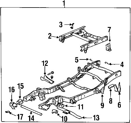 frame diagram for chevy silverado 2500 hd
