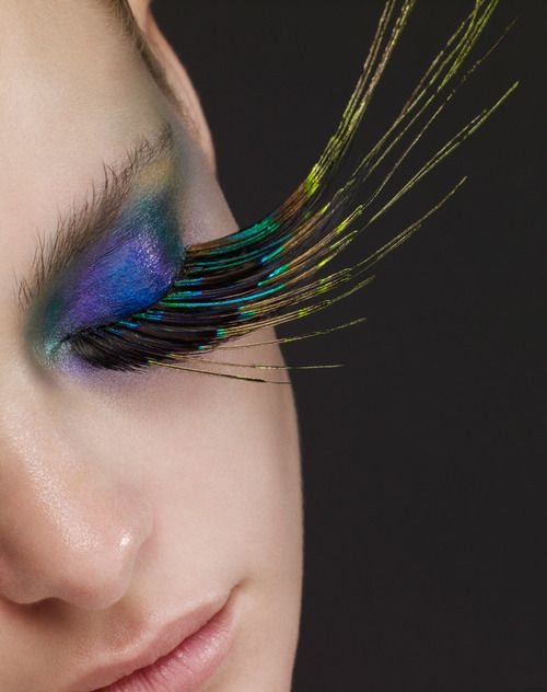 Peacock Eyelashes! ♥'d by http://makeupartistrycairns.com.au #lashes  #makeup  #inspiration