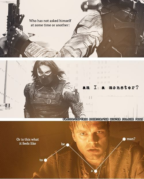 "Seriously with Loki and now Bucky...I cannot take this ""Monster"" thing at all! ugh I wanna cry!"
