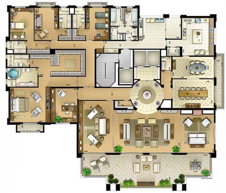 Las 25 mejores ideas sobre planos de planta de mansi n en for Planos de casas de campo gratis de una planta