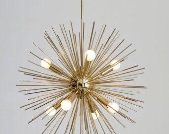 Metà secolo Patina moderno lampadario Sputnik di Nauticalvintagee