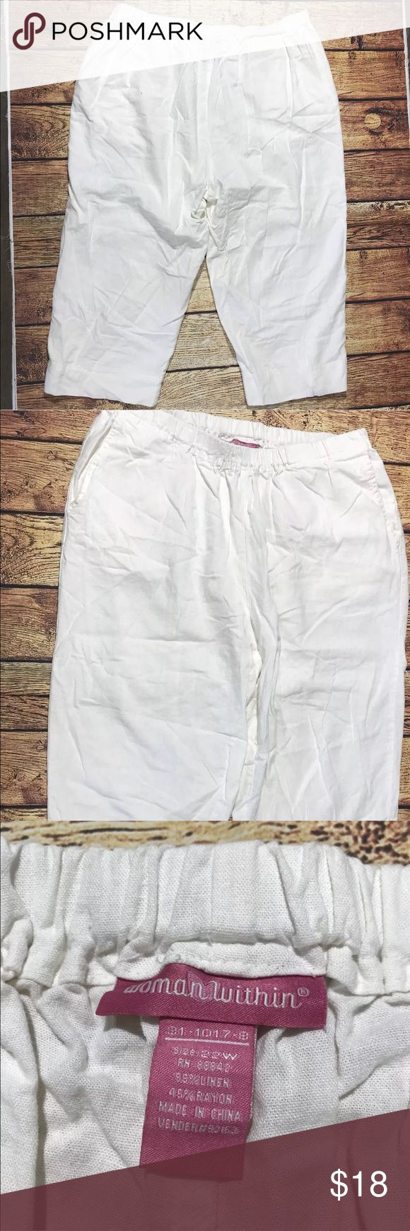 Women Within Women's Capri Pants Whi…