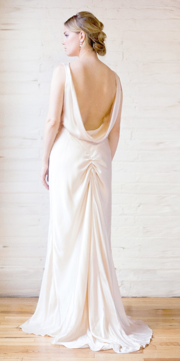 55 best wedding dress images on pinterest bridal gowns bridal 1930s draped v neck art deco bias cut silk charmeuse retro wedding ombrellifo Image collections