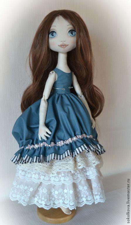 Купить Ребекка. Авторская текстильная кукла. - морская волна, кукла, текстильная…