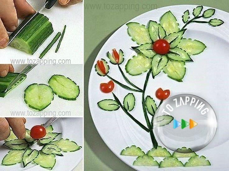 Cómo decorar platos de comida.Hoy queremos daros una fantástica idea dedecorar un platode comida de forma original y además que sea comestible. En